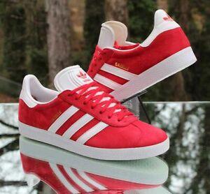 Adidas Originals Gazelle Men's Size 9.5 Scarlet Red White Gold S76228