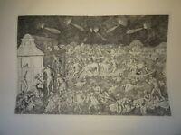 Baccio BALDINI (1436-1487) ? GRAVURE RENAISSANCE JUGEMENT DERNIER FIRENZE ITALIE