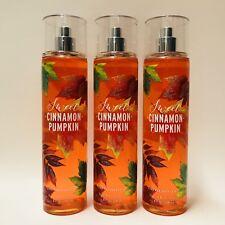 3 Bath & Body Works Sweet Cinnamon Pumpkin Fine Fragrance Mist Spray 8 fl.oz New