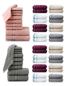 1x 4x 7x Towel Bale Set 100% Egyptian Cotton Face Hand Bath Towels Flannels