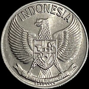 INDONESIA. 50 Sen, 1961 - National Emblem, Modified Eagle