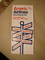 American Airlines - Timetable - San Francisco - Oakland - San Jose - 1982