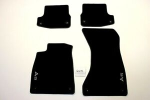 New OEM Genuine Audi A5 S5 Black Floor Mats Front Rear 2018-2021 Convertible 4pc