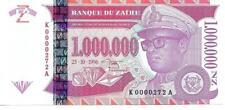 ZAIRE 1,000,000 Nouveaux Zaires P79 UNC