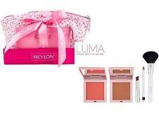 LUMA 5 PIECE MAKE UP SET INC BRONZER BLUSH LIPSTICK EYELINER BRUSH & REVLON BAGS