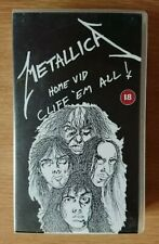 Metallica Home Vid Cliff Em All VHS Tape No Mould Polygram Music Video 1988