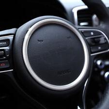 For Kia Optima 2016- Chrome Steering Wheel Panel Cover Badge Insert Trim Garnish