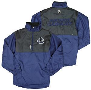 Reebok NHL Hockey Youth Vancouver Canucks Craftman Hot Windbreaker Jacket - Navy