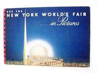 Vintage 1939 New York World's Fair Booklet w/ Black & White Pavilion Pictures *