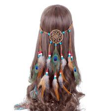 Women's Hippie Feather Headband Hairband Dream Catcher Carnival Costume Tassel