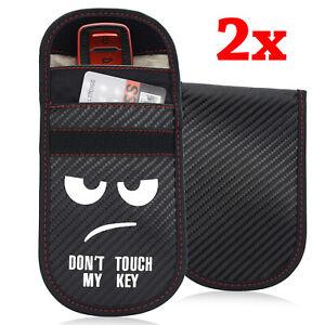 2PCS Car Key Signal Blocker Case Faraday Cage Pouch Keyless Blocking Bag Cartoon