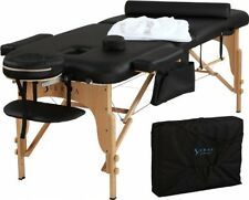 """Portable Massage Table Professional Durable Lightweight NEW 72"""" Black"""