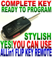 NEW STYLE FLIP KEY REMOTE FOR CHEVY KOBUT1BT CHIP KEYLESS ENTRY ALARM BEEPER FOB