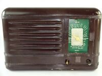 Vintage MCM Packard Bell 100A Tube Radio Plastic Brown Case (Parts / Repair)