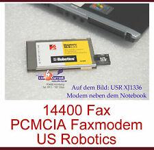 Compact Pcmcia Fax Fax Modem 3com Us Usr Robotics Xj1336 for Laptop