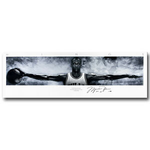 Michael Jordan Wings Basketball Silk Poster 13x44 20x68 inch 059