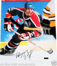 WAYNE GRETZKY GREAT ONE OILERS HAND SIGNED AUTOGRAPHED 11X14 PHOTO! PROOF+COA!