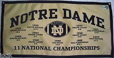 Notre Dame Fighting Irish Football NCAA  National Champions Banner