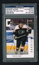 Patrick Sharp signed autograph 2002 BAP Memorabilia Hockey Card PSA ITP Slabbed