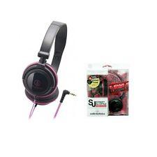 Audio Technica ATH-SJ11BPK Pink Slim Folding Design Portable HEADPHONES ATHSJ11