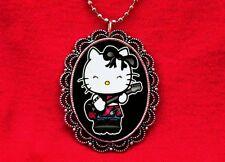 HELLO PUNK KITTY ROCKER CAT GUITAR PENDANT NECKLACE EMO