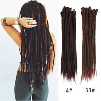 "10pcs/PACK 20"" Dreadlocks Crochet Reggae Punk Locks Synthetic Hair Extensions"