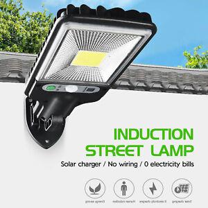 Solar LED Garden Wall Light Human Sensor Garden Terrace Garage Door Waterproof