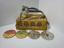 Vintage MOULI Julienne shredder Salad Maker 4 Discs Shred Grate Chop Slice NEAT!
