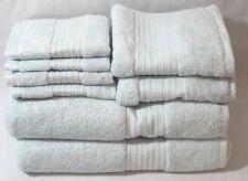 Ralph Lauren Greenwich Eight Piece Bathroom Towel Set Solid Powder Blue New