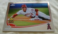 2013 Topps Chrome Mike Trout - Rookie Gold Cup #1 Los Angeles Angels GOAT NM-MT+