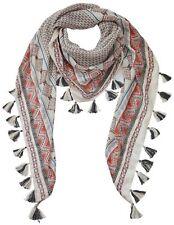 Schal von Heine Dreiecksform Tuch Ethno-Design mit Quasten für alle Jahrezeiten