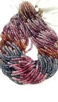 "NATURAL MULTI SPINEL RONDELLE MICRO FACETED 4-5 MM 13"" GEMSTONE BEADS"