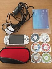 Sony PSP 2004 Slim & Lite Silver Console Bundle Includes 6 x Games, Case & Charg