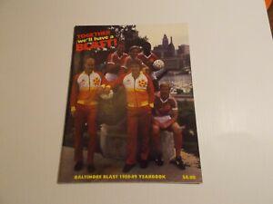 1988 - 1989 BALTIMORE BLAST MISL SOCCER Magazine Yearbook Signed Inside
