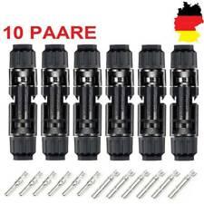 DE 10 Paare MC4 2.5-6 mm² Kabel Buchse KupplungWasserdicht Solarstecker Stecker