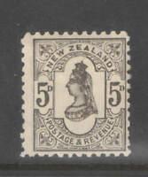 New Zealand 1882  QV 5d Grey F-VF Mint
