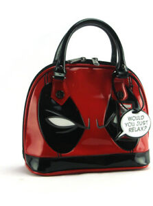 Loungefly x Deadpool Mini Dome Bag Marvel Purse Handbag Red Black New With Tags