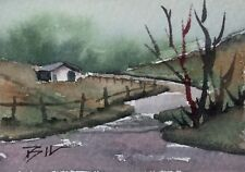 ACEO Miniature Painting by Bill Lupton - Winding Road