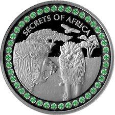 5 Cedis Ghana 2020 - 1 OZ Secrets of Africa II Lion 2020 mit 42 Tsavoriten