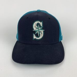 NEW ERA Seattle Mariners MLB Colorblock Hat 59FIFTY Fitted 7 1/8 Made In USA