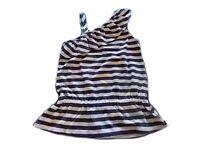 NWT Girl's Gymboree Hop n' Roll blue white striped tank top shirt ~ 4 5 8