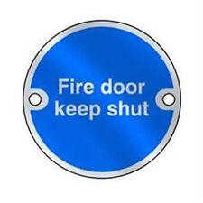 Metal Fire Door Keep Shut Sign -Aluminium