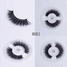 Handmade Fine 3D Soft Silk Protein False Eyelashes Full Strip Thick  Long Lashes