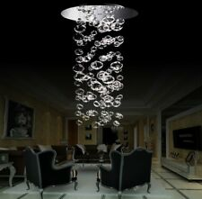 LED Due Bubble Glass Suspension Light Pendant Luxury Lamp Chandelier Option