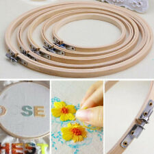 Wooden Cross Stitch Machine Embroidery Hoop Ring Bamboo Sewing 13-30cm