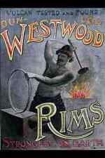 metal sign 711092 westwood rims a4 12x8 aluminium