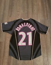 Maillot jersey trikot PSG 01-02 taille S Ronaldinho rare autographe Néné Paris
