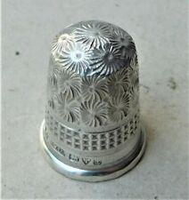 NO RESERVE HM 1911 Henry Williamson Sterling Silver Thimble Vintage Antique