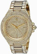 *NEW* MICHAEL KORS LADIES WATCH MK5720 - GOLD TONE PAVE CRYSTALS CAMILLE