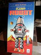 "Tin Chrome Robot {{ mechanical Planet Robot }} 9 "" inches"